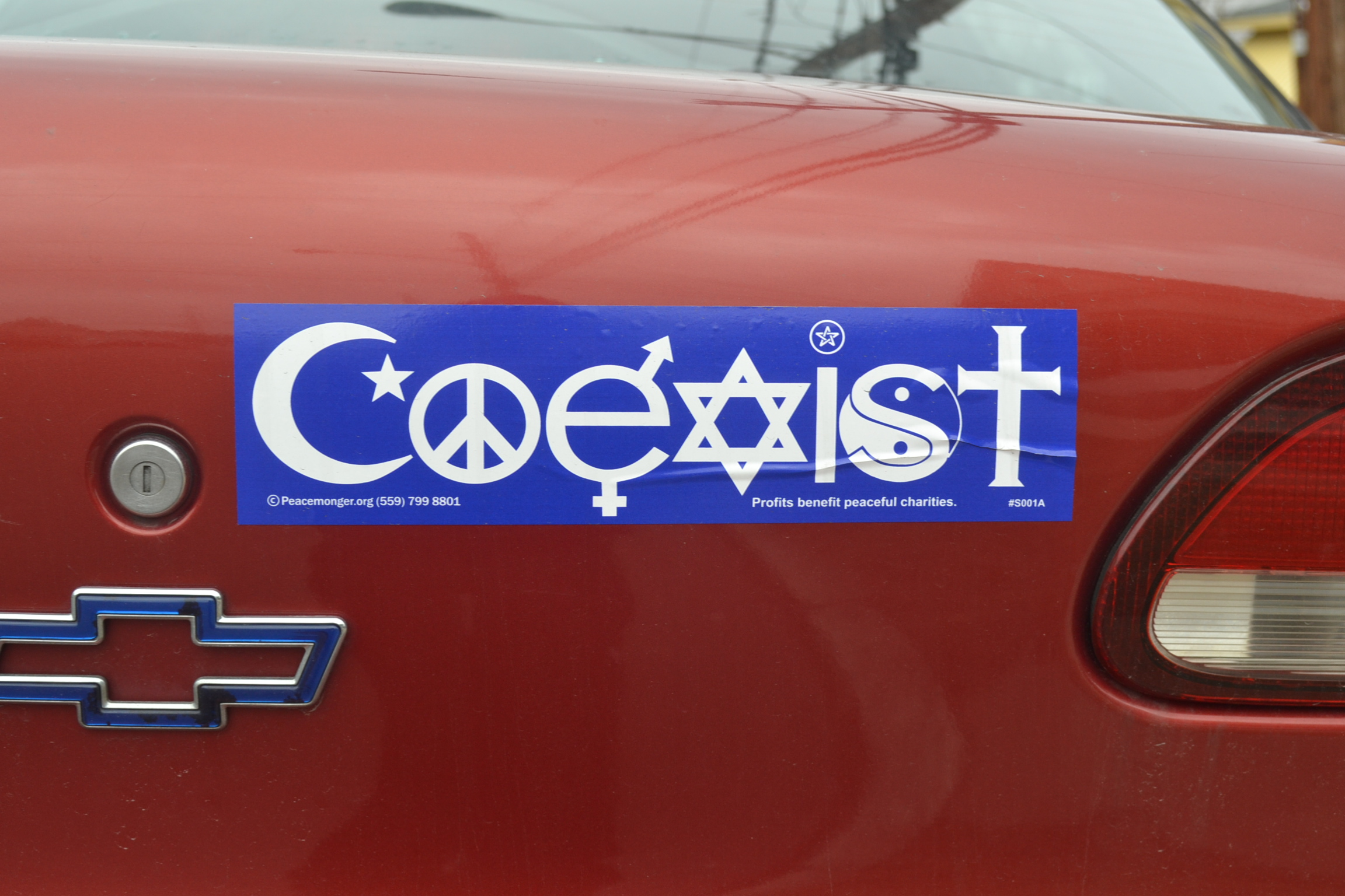 Image result for coexist bumper sticker